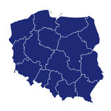 Map of poland Stock Images