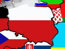 Map of Poland. Stock Photos
