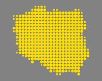 Map of Poland Stock Photography