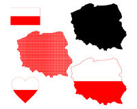 Map of Poland. In different colors on a white background Stock Photography