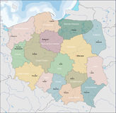 Map of Poland Royalty Free Stock Image