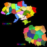 Map of Poland and Ukraine Stock Photo