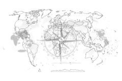 Map political abstract of the world. Political map abstract of the world background stock illustration