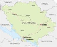 Map of Poltava Oblast Royalty Free Stock Image