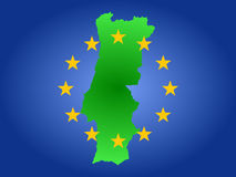 Map of portugal Royalty Free Stock Images