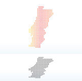 Map of Portuguese Republic with Dot Pattern Stock Photo