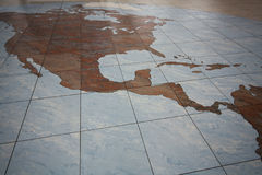 Map in Prague airport, Czech Republic. Royalty Free Stock Photo