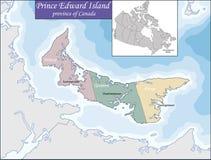 Map of Prince Edward Island Royalty Free Stock Image