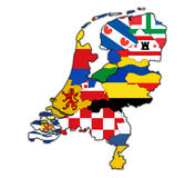 Map of provinces of netherlands Royalty Free Stock Photos