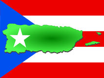 Map of Puerto Rico Royalty Free Stock Image