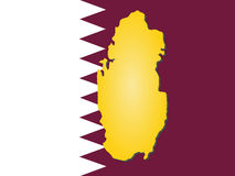 Map of Qatar Stock Photography