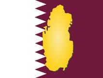 Map of Qatar Stock Photography