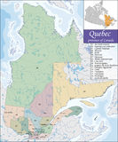 Map of Quebec Royalty Free Stock Photography