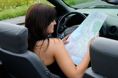 Map Reading Stock Photography