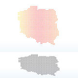 Map of Republic Poland with Dot Pattern. Vector Image - Map of Republic of Poland with Dot Pattern vector illustration