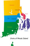 Map of Rhode Island state Royalty Free Stock Photo
