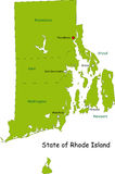 Map of Rhode Island state. Designed in illustration with the counties and the county seats. (Map is hight resolution Royalty Free Stock Photos