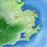 Map of Rio de Janeiro, Brazil Royalty Free Stock Photos