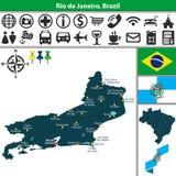 Map of Rio de Janeiro, Brazil Royalty Free Stock Photography