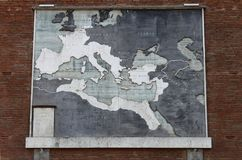 Map of the roman empire. In Rome, Italy Stock Photos