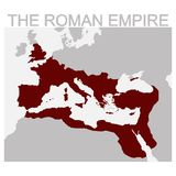 Map of the Roman Empire. Vector map of the Roman Empire stock illustration
