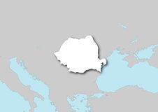 Map of Romania Royalty Free Stock Photos