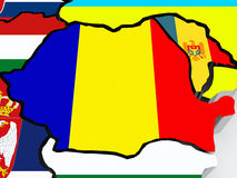 Map of Romania and Moldova. Stock Images