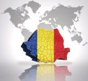 Map of  Romania Royalty Free Stock Photo