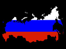Map of Russia Stock Photography