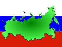 Map of Russia Stock Photo