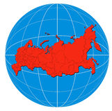 Map of Russia. Vector art of a Map of the Russian Republics Stock Photos