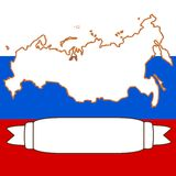 Map of Russia. An illustration of Russia and flag Royalty Free Stock Image