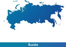 Map of Russia. Stock Photo