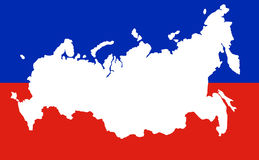 Map of the Russian Federation with the Crimea Stock Photo