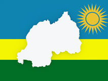 Map of Rwanda. Royalty Free Stock Images