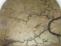 Map of Saigon and environs Stock Image