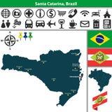 Map of Santa Catarina, Brazil Royalty Free Stock Photography