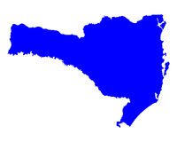 Map of Santa Catarina Royalty Free Stock Photo