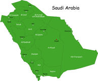 Map of Saudi Arabia stock photo