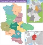Map of Saxony-Anhalt Stock Photo