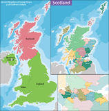 Map of Scotland Royalty Free Stock Photo