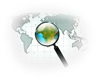 Map searching Royalty Free Stock Photo