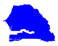 Map of Senegal Royalty Free Stock Photography