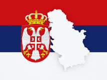 Map of Serbia. Royalty Free Stock Photography