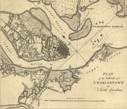 Map of the Siege of Charleston, South Carolina, Stock Image
