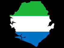 Map of Sierra Leone Royalty Free Stock Photo