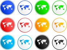 Map sign icons Stock Image