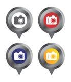 Map sign locator camera Stock Image