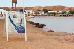Map of the Sinai peninsula on the blackboard Stock Photography
