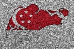 Map of Singapore Royalty Free Stock Image